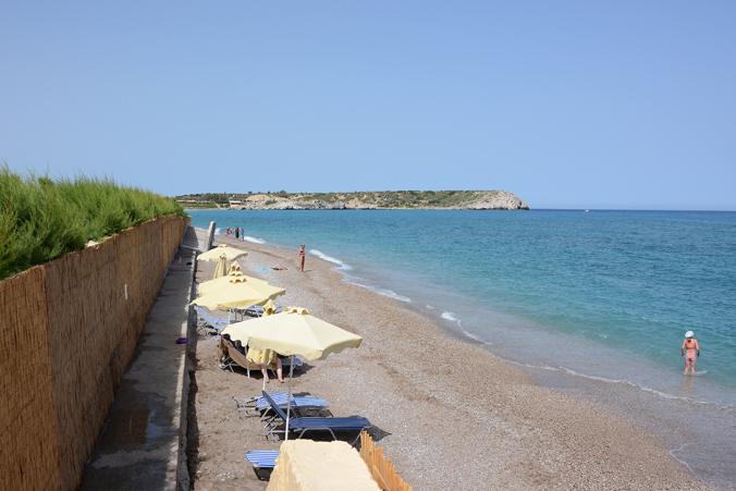 Stranden på Atlantica Aegean Blue på Rhodos.