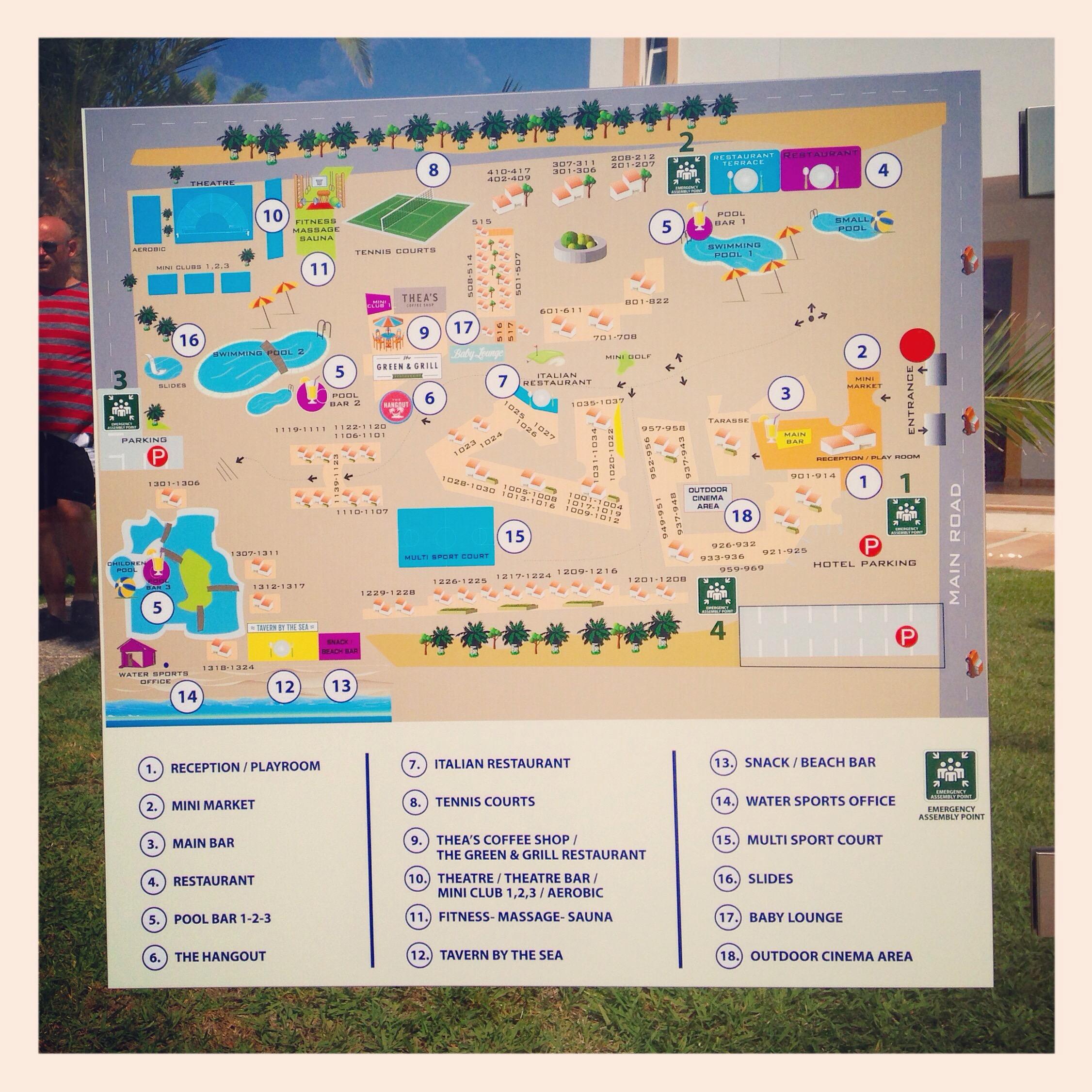 hotell karta Hotellkarta Atlantica Club Marmari Beach   Från Stad till Strand hotell karta