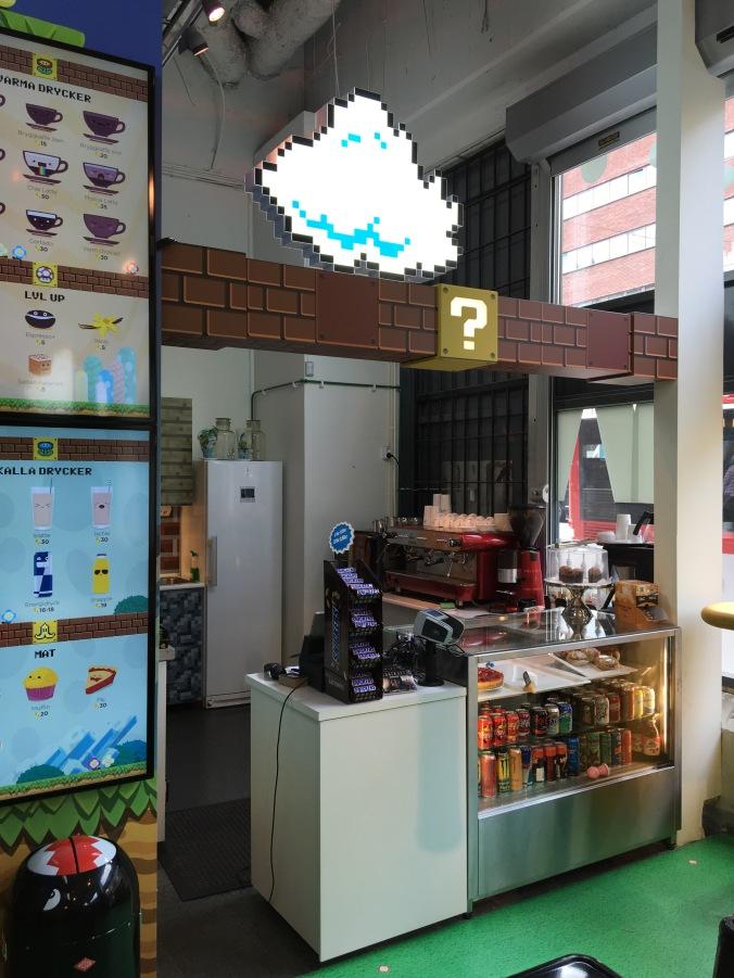 Webbhallens nintendo-café