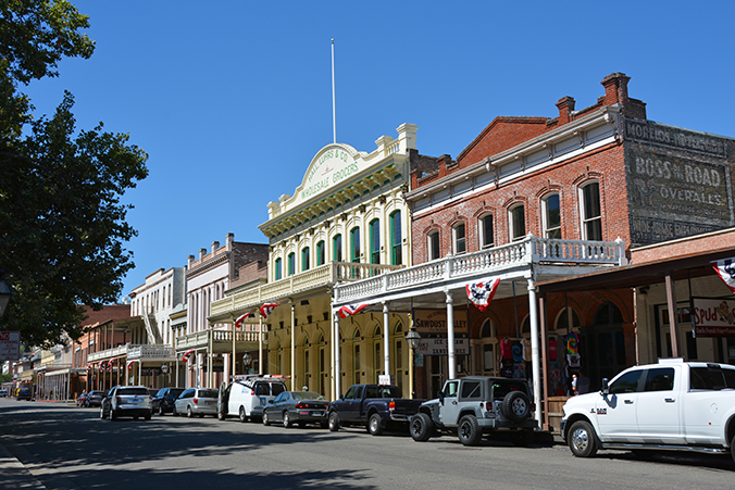En av gatorna i Old Sacramento