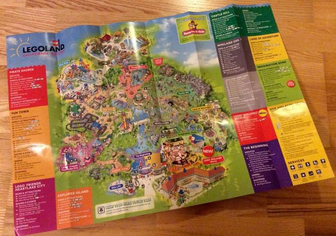 Karta över Legoland California.